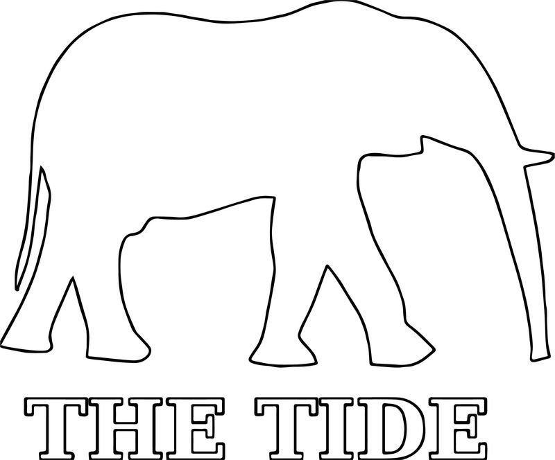 Hi Alabama Football A Elephant Outline Coloring Page