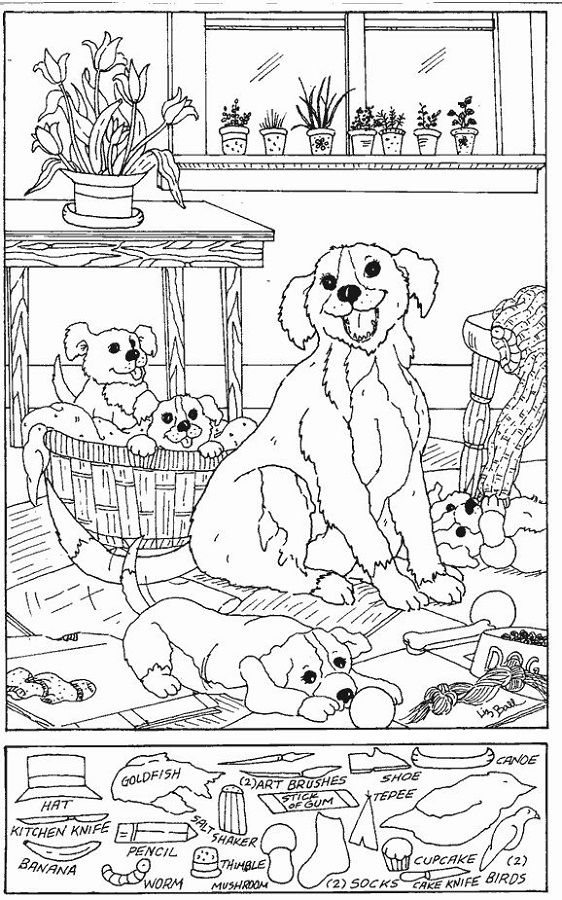 Hidden Picture Worksheet Dog