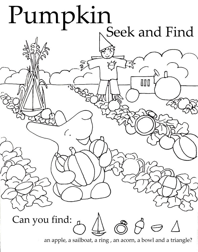 Hidden Pictures Worksheet For Kids