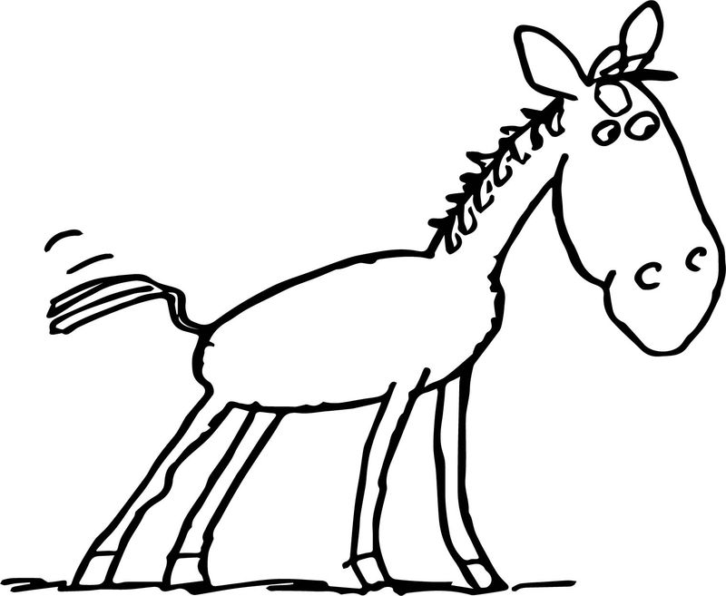 Horse Baby Farm Animal Coloring Page
