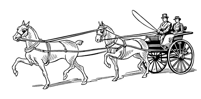 Horse Carriage Coloring Page