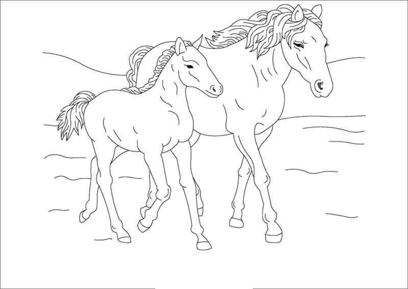 Horse Color Sheets Printable