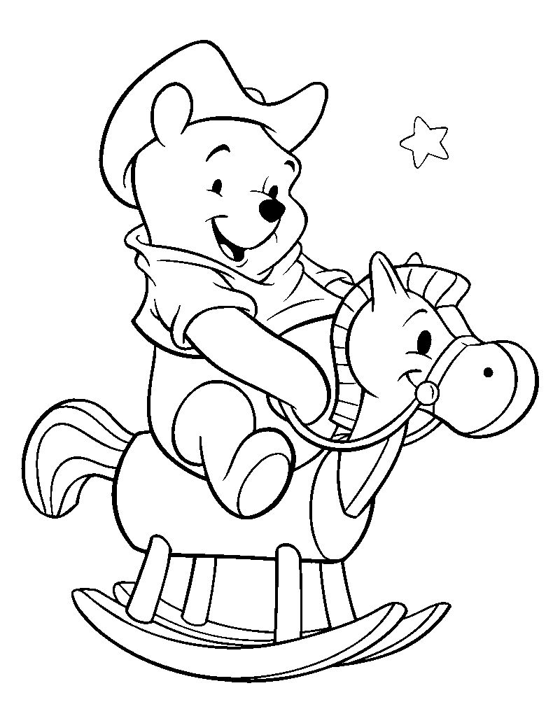 Horse Winnie The Pooh Coloring Pages