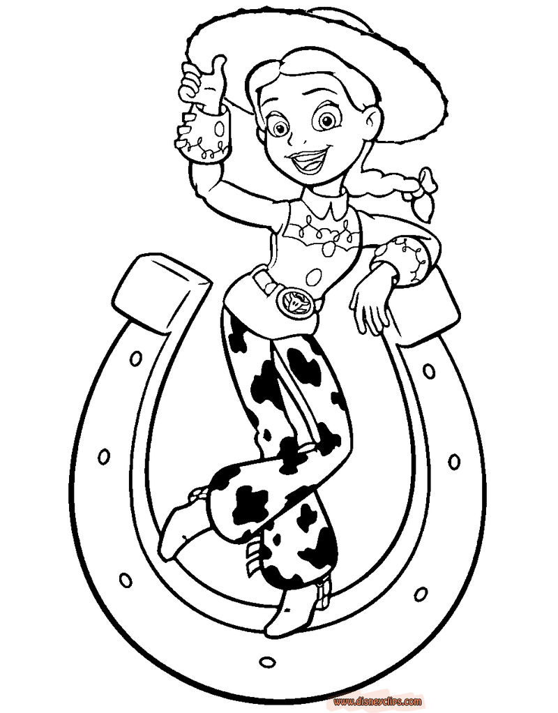 Horseshoe Jessie Toy Story Coloring Pages