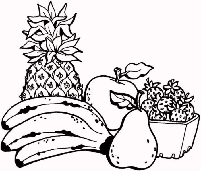 How To Color Fruit Coloring Pages
