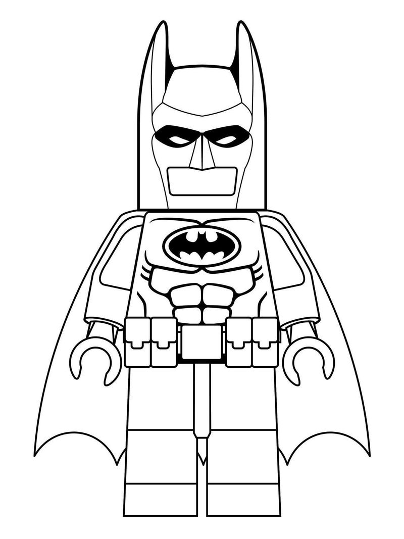 I Am Lego Batman Coloring Pages