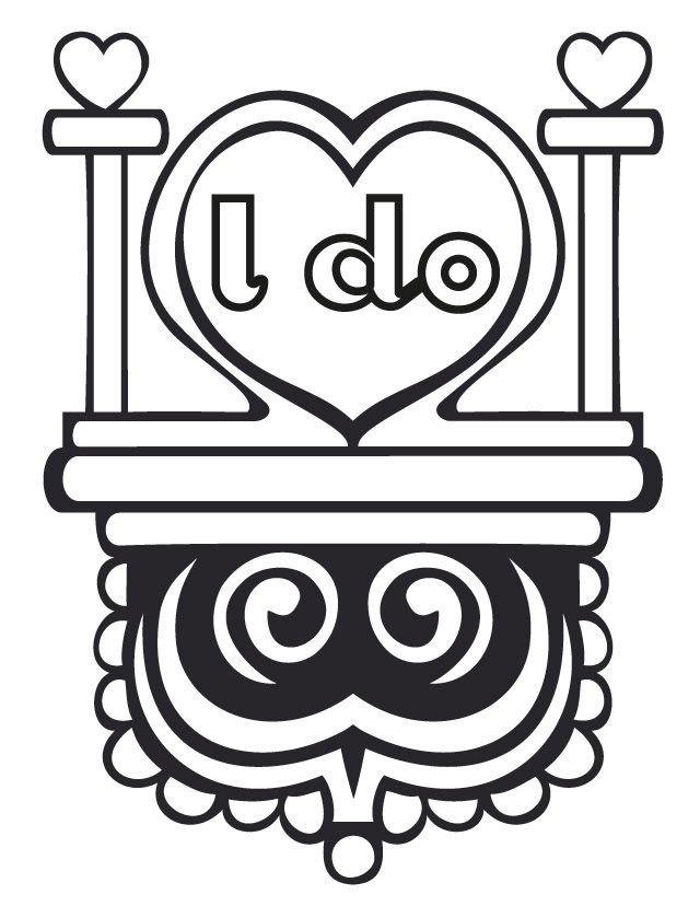 I Do Wedding Art Coloring Pages