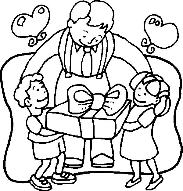 I Love Dad Fathers Day Coloring 001