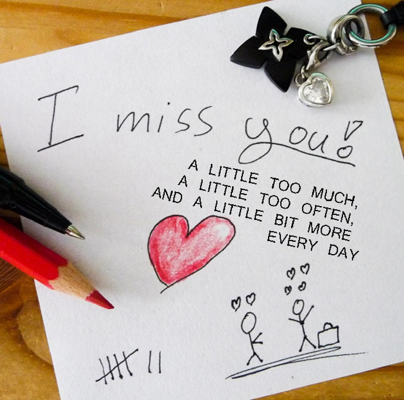 I Miss You Cards Romantic
