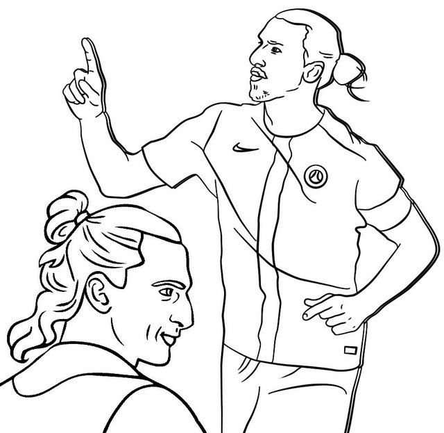 Ibrahimovic Famous Soccer Player Coloring Page