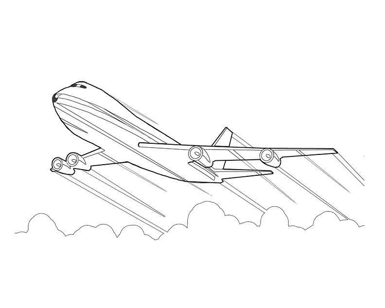 Images Of Airplane Coloring Page
