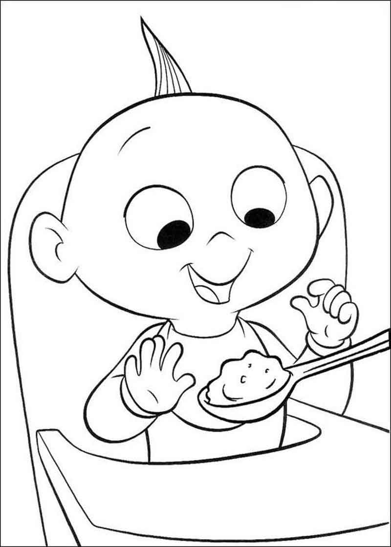 Incredibles Coloring Pages Jack Jack (1)