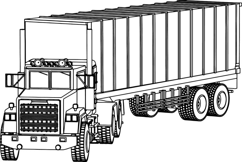 Industrial Truck Big Truck Coloring Page