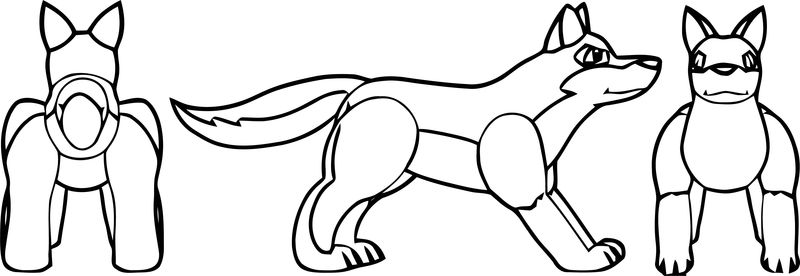 Inflatable Balto Wolf Coloring Page