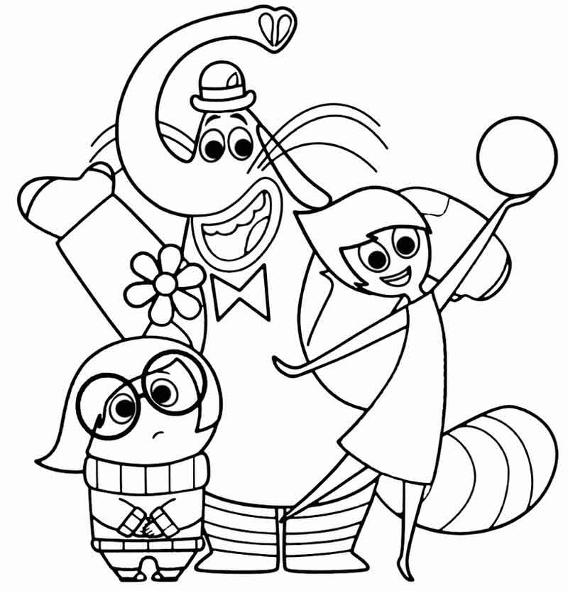 Inside Out Coloring Page Printable