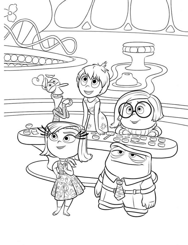 Inside Out Coloring Pages Printables