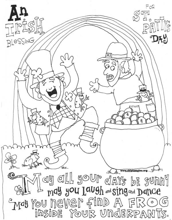 Irish Blessing St Patricks Day Coloring Pages