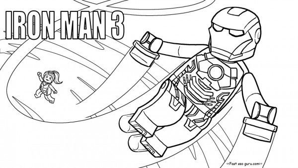 Iron Man 3 Lego Avengers Coloring Pages