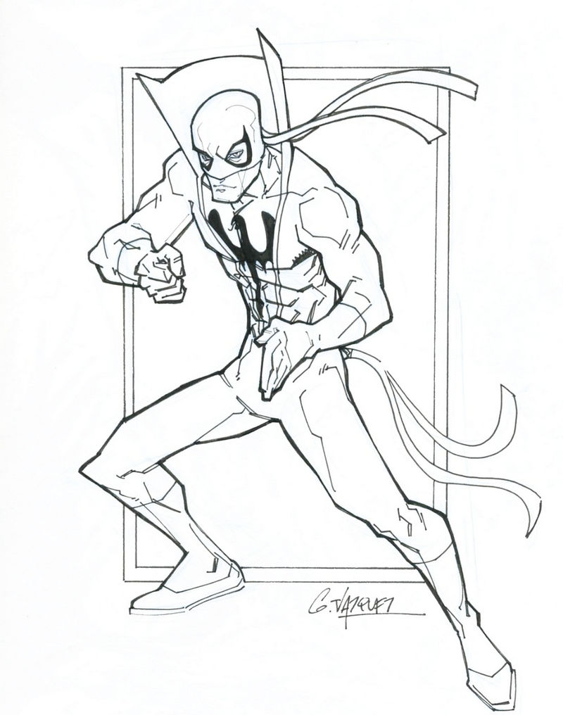 Iron Fist Coloring Pages Marvel Printable Coloring Sheet