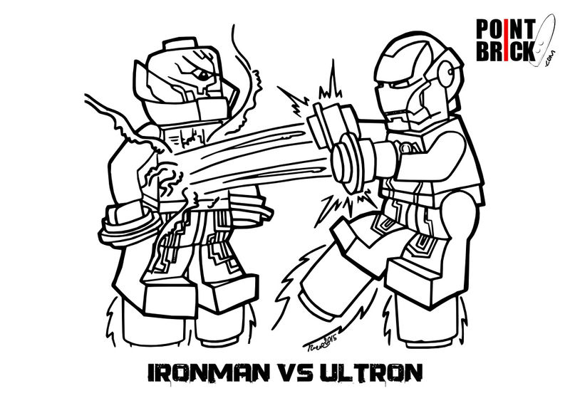 Ironman Vs Ultron Lego Avengers Coloring Pages