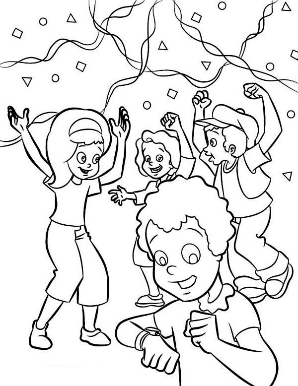 January Countdown Coloring Page