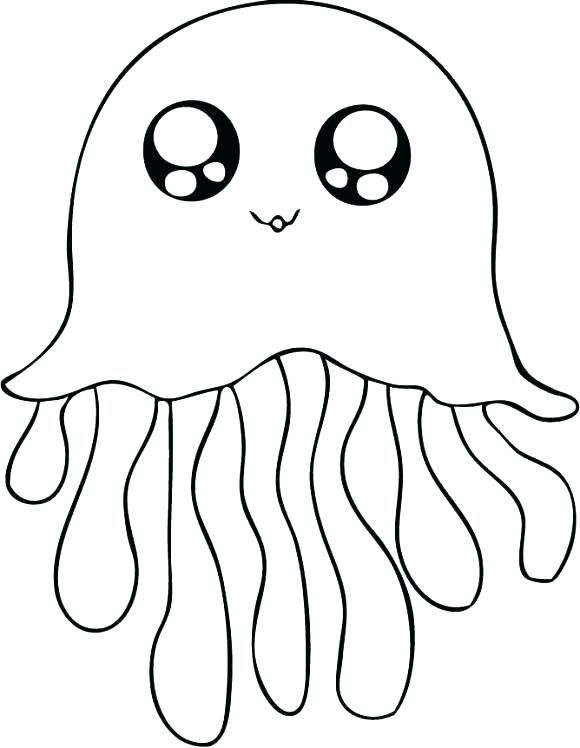 Jellyfish Animal Coloring Pages
