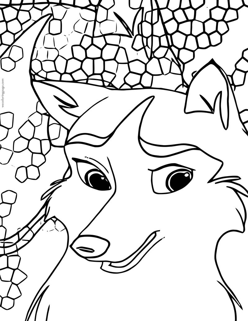 Jenna Think Now Balto Wolf Coloring Page