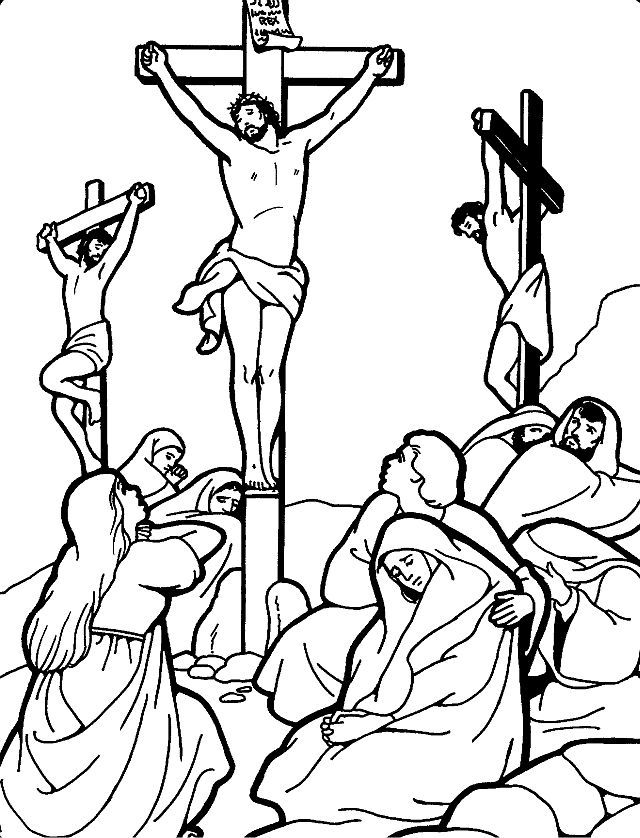 Jesus On Cross Good Friday Coloring Pages