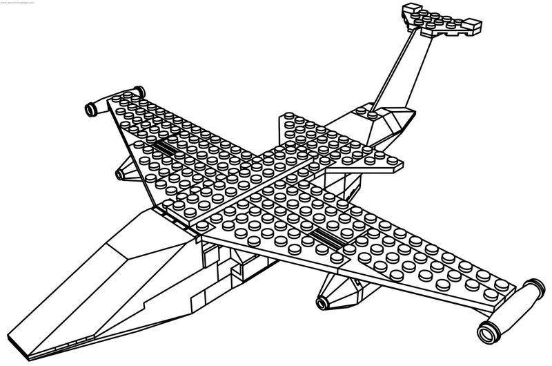 Jet Lego Plane Coloring Page