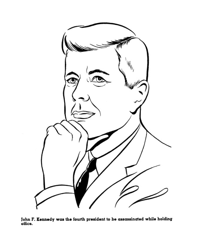 Jfk Presidents Day Coloring Pages