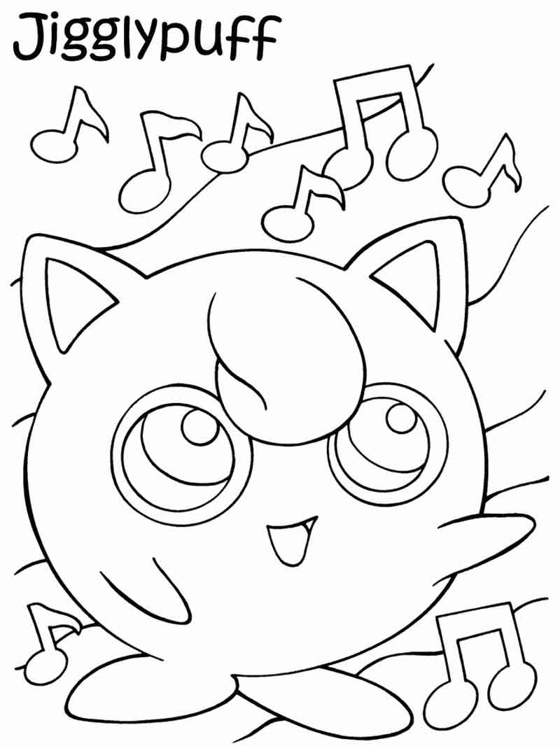 Jigglypuff Pokemon Coloring Pages
