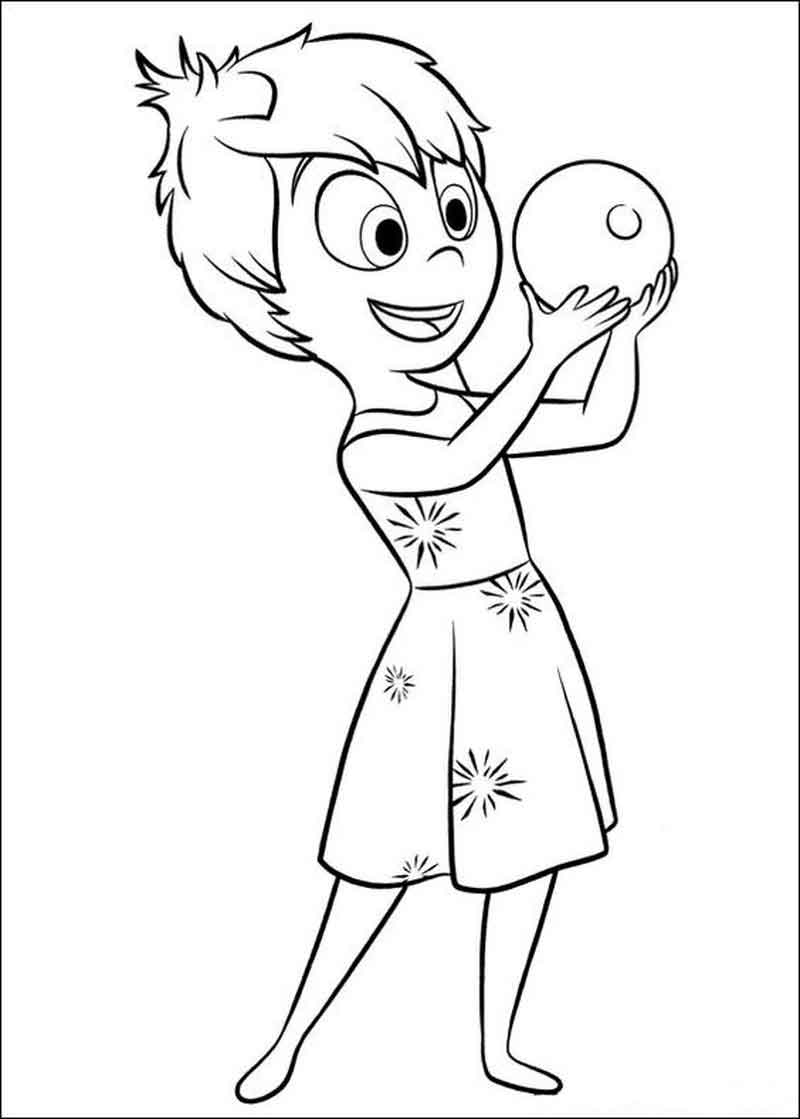 Joy Inside Out Coloring Page