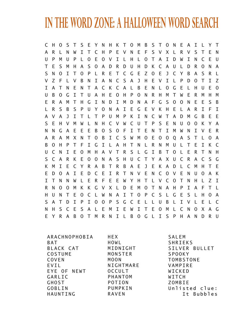 Jumbo Word Search Halloween