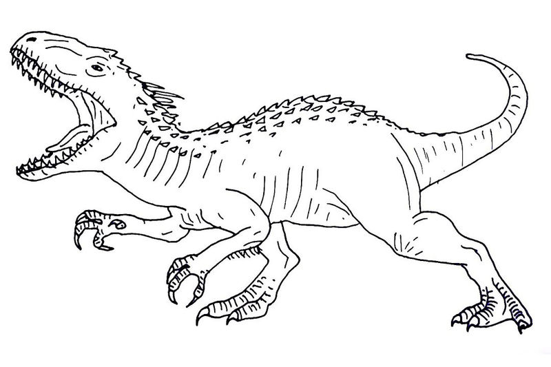 Jurassic World Dinosaur Coloring Pages 1