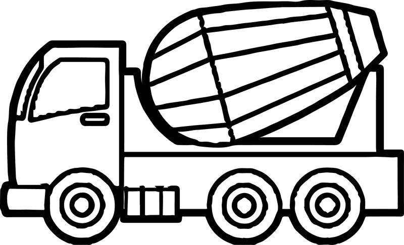 Just Cement Truck Coloring Page