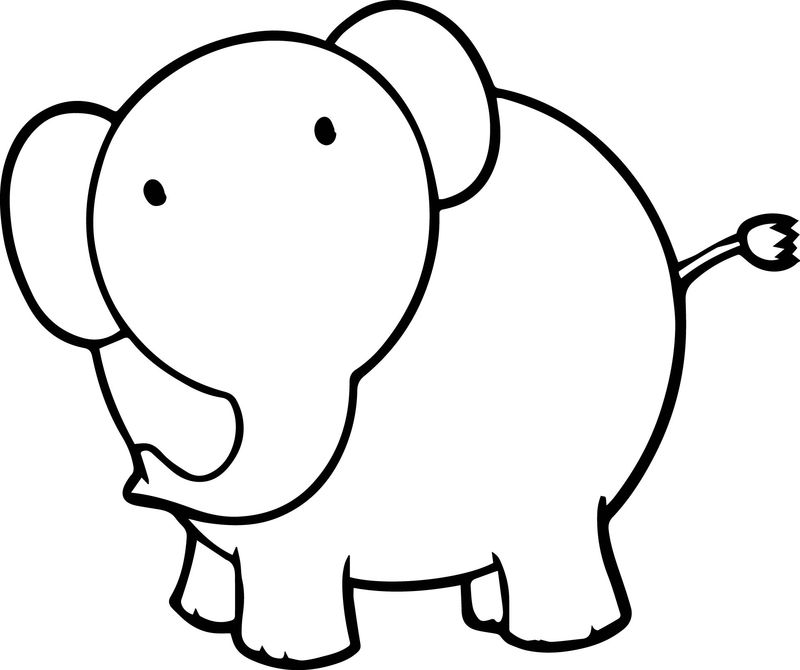 Just Elephant Coloring Page