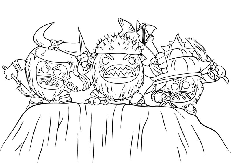 Kakamora Fighters Disney Moana Coloring Pages