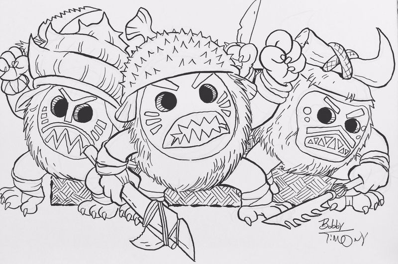 Kakamora Moana Drawing To Color