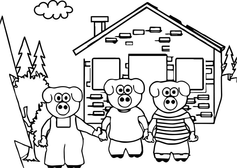 Keys To Literacy Three Little Pigs Coloring Page 1