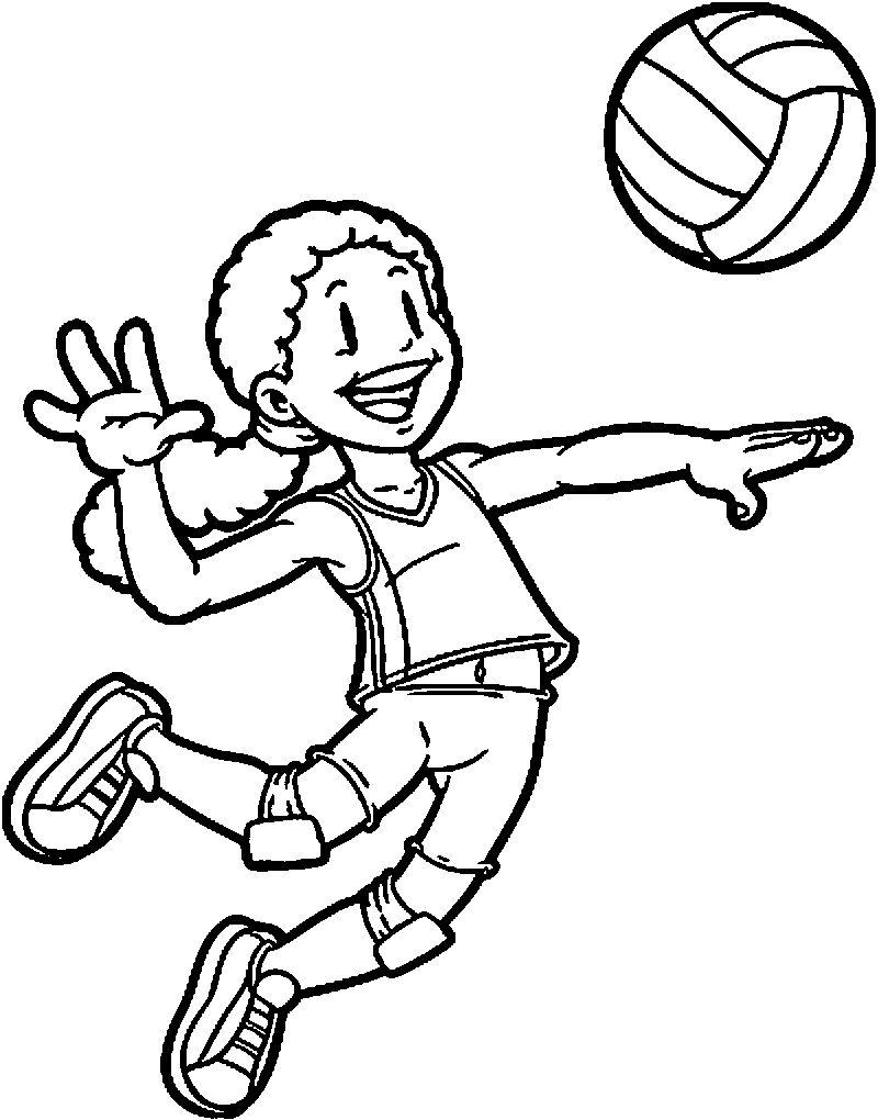 Kids Playing Sports Kids Coloring Page