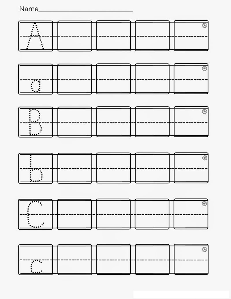 Kindergarten Abc Worksheets Printable 001