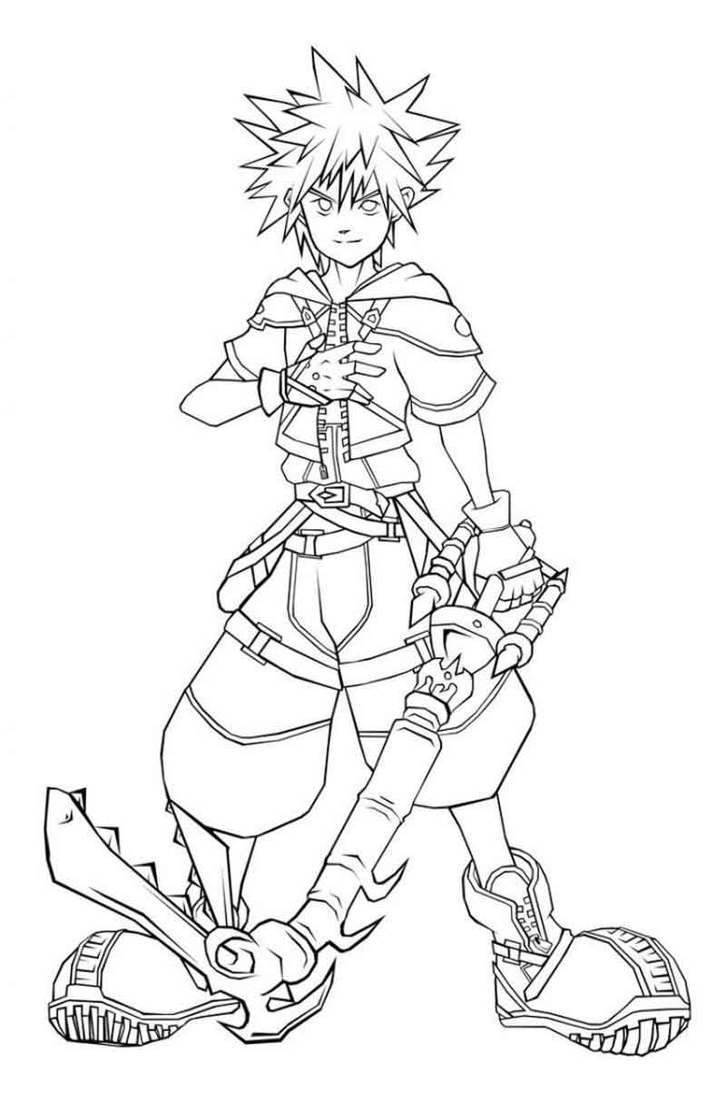 Kingdom Hearts Coloring Pages To Print