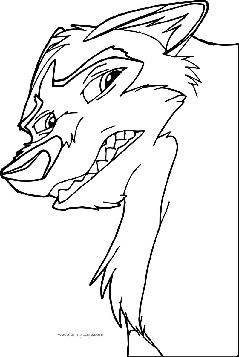 Kodi From Balto Wolf Coloring Page