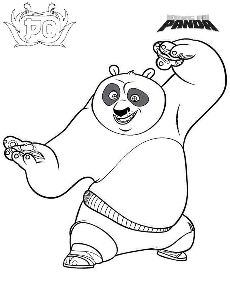 Kung Fu Panda Coloring Pages Images