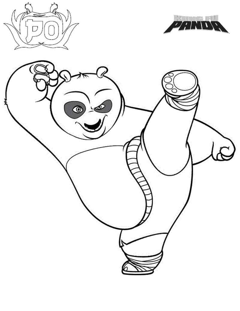 Kung Fu Panda Coloring Pages Pictures