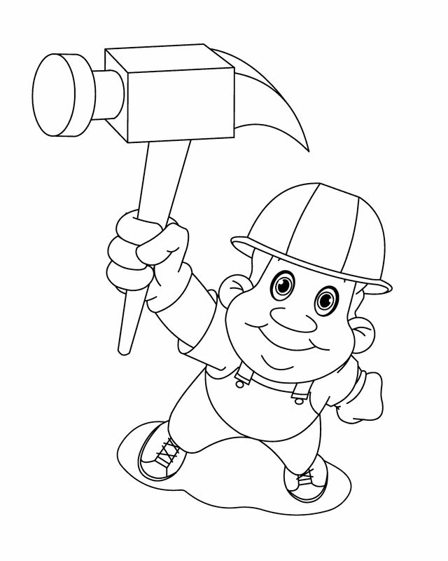 Labor Day Coloring Pages Carpenter
