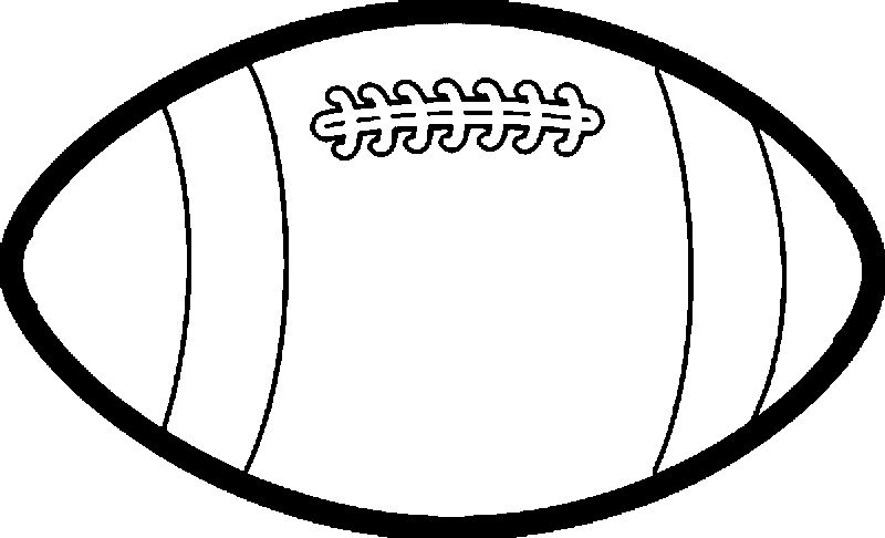 Large Rugby Ball Playing Football Coloring Page