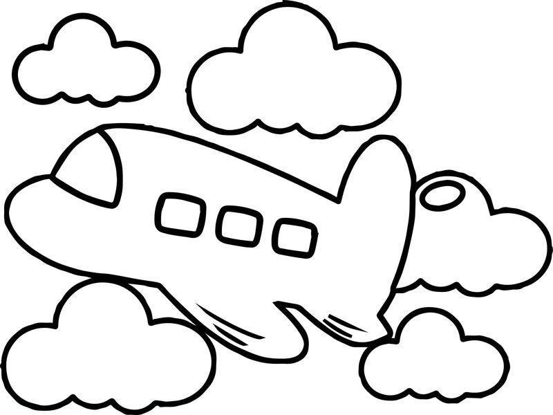 Large Toy Airplane Coloring Page
