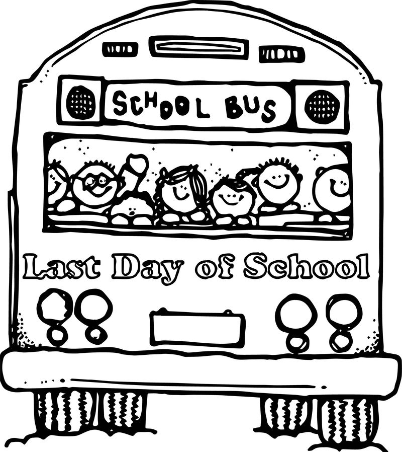 Last Day Of School Bus Coloring Page