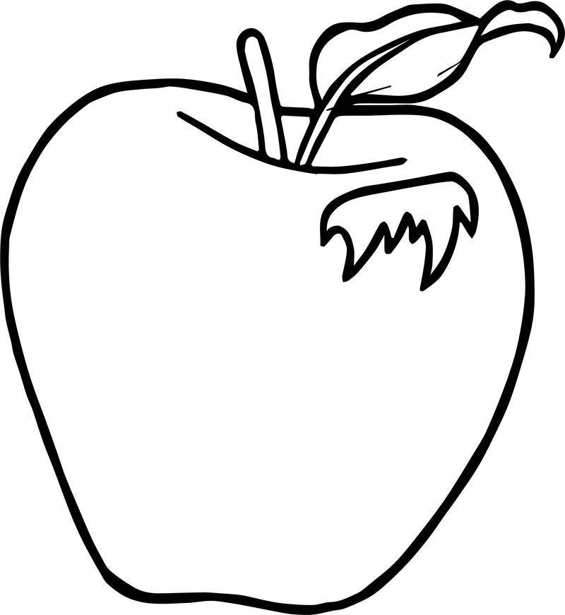 Leaf Apple Coloring Page